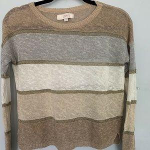 5/$25 LOFT Women's Medium Linen Blend Sweater